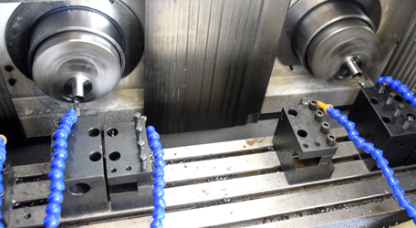 Flange bearing fine machining with HF402 Double spindle CNC lathe machine